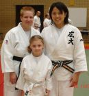 Yvette, Eve and Yuko, Guest Instructor at Bognor Summer School in August 2007.